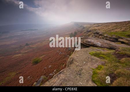 Stanage Edge, Peak District National Park, Derbyshire, England, United Kingdom, Europe - Stock Photo