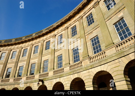The Crescent, Buxton, Peak District National Park, Derbyshire, England, United Kingdom, Europe - Stock Photo