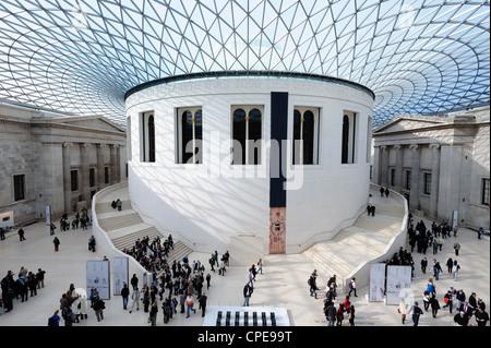 Great Court, British Museum, Bloomsbury, London, England, United Kingdom, Europe - Stock Photo