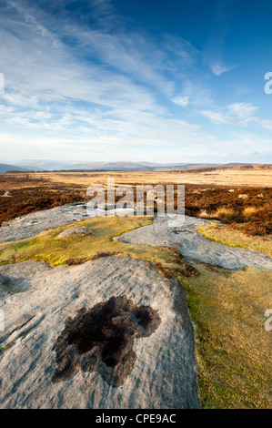 Curbar and Froggatt Edge, Peak District National Park, Derbyshire, England, United Kingdom, Europe - Stock Photo