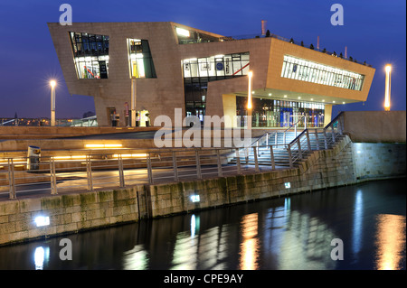 Mersey Ferries offices and Beatles Museum, Pier Head, Liverpool, Merseyside, England, United Kingdom, Europe - Stock Photo