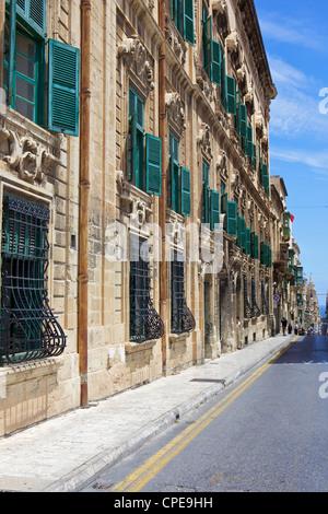 Auberge de Castille one of Valletta's most magnificent buildings, Valletta, Malta, Mediterranean, Europe - Stock Photo