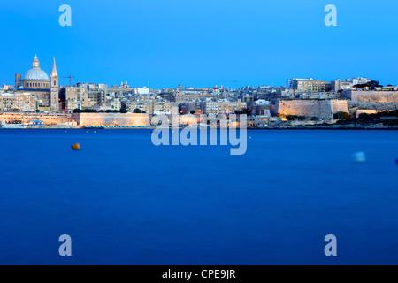 Overlooking Valletta, Malta, Mediterranean, Europe - Stock Photo