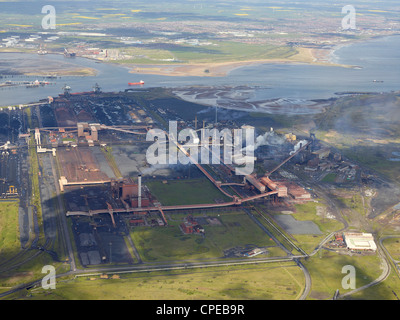 SSI/ ex Corus SteelworksTeeside from the Air, North East England, May 2012 - Stock Photo