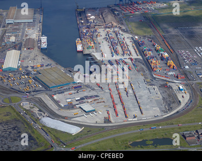 Teesport from the Air, North East England, May 2012 - Stock Photo