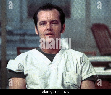 ONE FLEW OVER THE CUCKOO'S NEST 1975 United Artists film with Jack Nicholson - Stock Photo