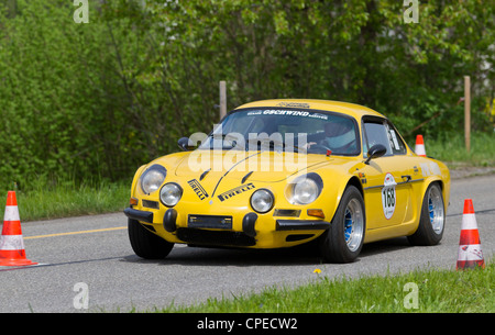 car renault alpine a110 sports car coup coupe blue model year stock photo 19996622 alamy. Black Bedroom Furniture Sets. Home Design Ideas