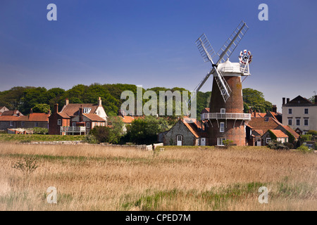 The windmill at Cley, Norfolk, UK - Stock Photo