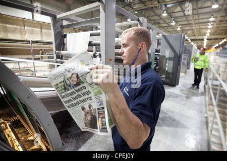 Manchester Evening News newspaper printing plant Oldham Gtr Manchester - Stock Photo
