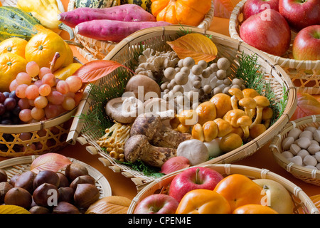 Full Frame Of Various Fruits And Vegetables - Stock Photo