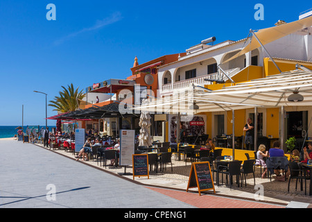 Cafe on the seafront, Carvoeiro, Algarve, Portugal - Stock Photo