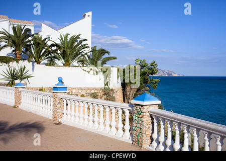 Southern Andalucia architecture in resort town of Nerja, Costa del Sol, Malaga province, Spain. - Stock Photo