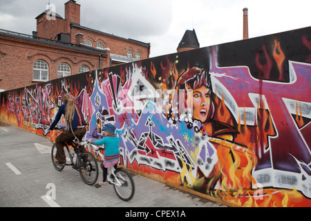 Graffiti wall Tampere Finland Scandinavia - Stock Photo