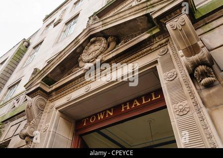 Preston Town Hall, home of Preston City Council - Stock Photo