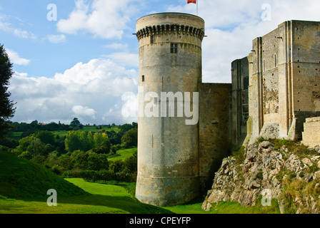 Falaise,Birthplace of William I the Conqueror,first of the Norman Kings of England. Castle Falaise overlooks the - Stock Photo