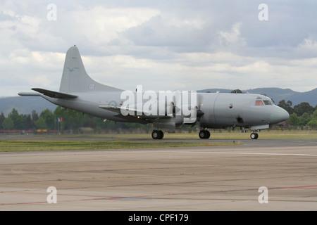 Lockheed P-3 Orion maritime patrol aircraft of the Royal Australian Air Force - Stock Photo