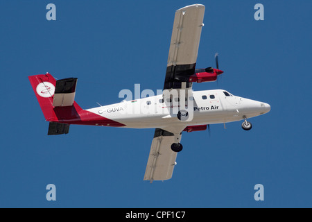 DHC-6-400 Twin Otter light utility aeroplane on delivery to Petro Air of Libya - Stock Photo