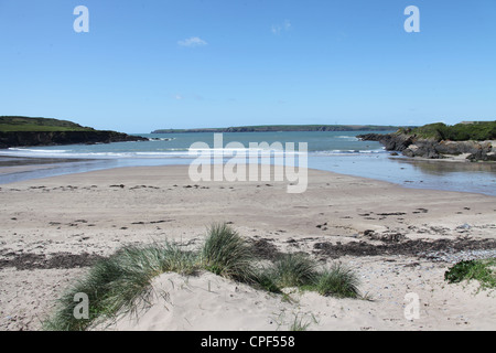 West Angle Bay Beach in Pembrokeshire - Stock Photo