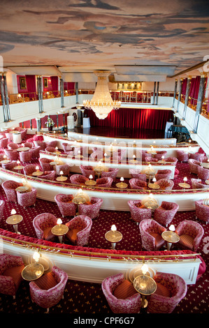 Kaisersaal or 'Emperor's Hall' aboard the super deluxe cruise liner MS Deutschland, operated by Reederei Peter Deilmann. - Stock Photo