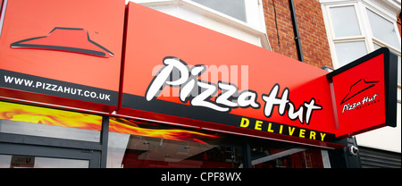 PizzaHut Delivery shop - Stock Photo