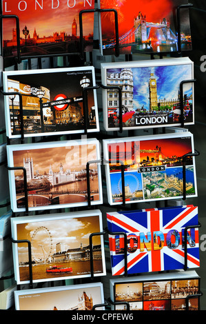 Postcards for sale, London, England - Stock Photo