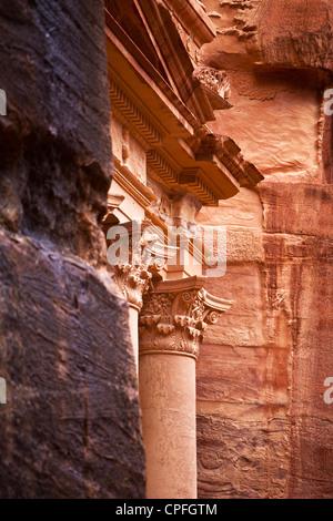 The Treasury, Petra, Jordan, Western Asia - Stock Photo