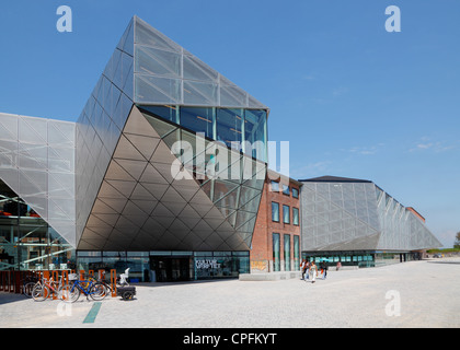Areas and buildings of the old shipyard in Elsinore have turned into The Culture Yard, Kulturværftet, in Elsinore, - Stock Photo