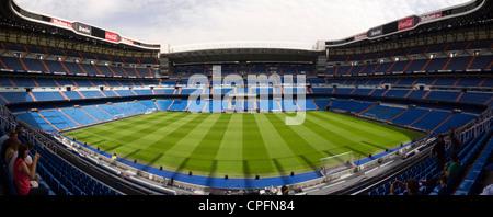 Panoramic view of the Real Madrid stadium Santiago Barnabéu in Madrid, Spain