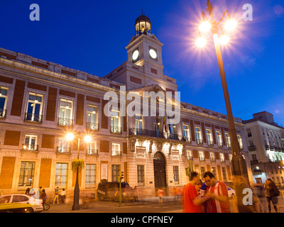 Comunidad de Madrid building in Puerta del Sol square, Madrid, Spain - Stock Photo