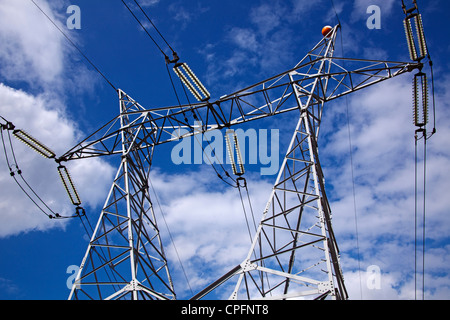 High voltage electric line - Stock Photo