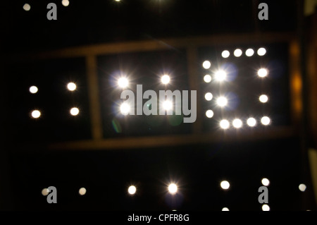 abstract stars lighting on Ceiling background. - Stock Photo