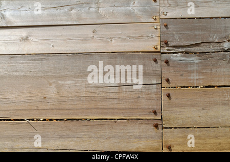 Wooden barrier dividing areas along the shore - Stock Photo