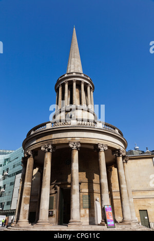 England, London, Marylebone, Langham Place, All Souls Church - Stock Photo