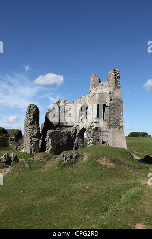The Ruins of Pennard Castle Pennard Burrows Gower South Wales UK - Stock Photo