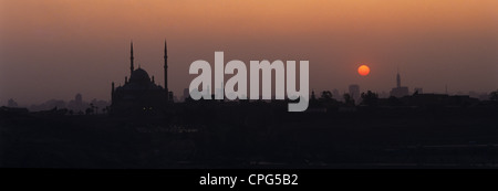 Egypt. Cairo. City skyline at sunset. - Stock Photo