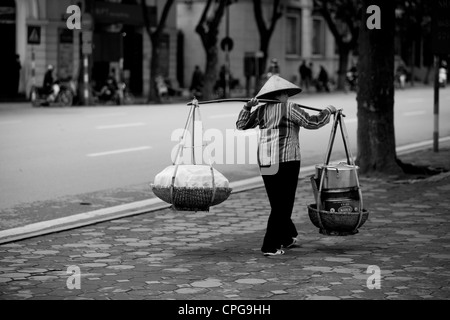 HANOI, VIETNAM - MARCH 09: Views of Hanoi on March 9, 2012 in Hanoi, Vietnam. (Photo by Rob Ball/Getty Images) - Stock Photo
