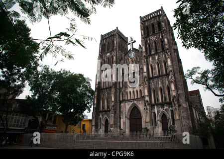 HANOI, VIETNAM - MARCH 09: Views of Saint Joseph Cathedral on March 9, 2012 in Hanoi, Vietnam. (Photo by Rob Ball/Getty - Stock Photo