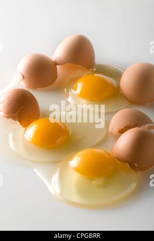 Broken eggs - Stock Photo