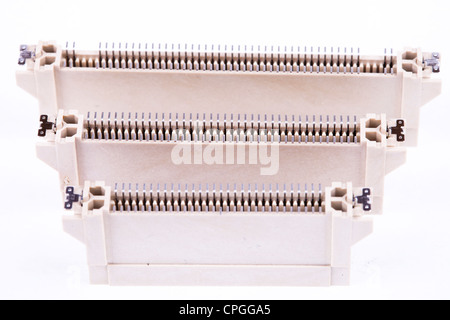 SMT surface mount technology connectors. - Stock Photo