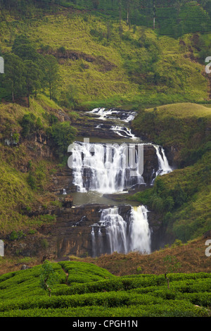St. Clair's Falls, Nuwara Eliya District, Sri Lanka, Asia - Stock Photo