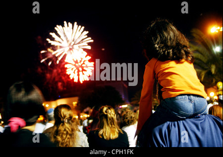 Fireworks show during Independence day. - Stock Photo