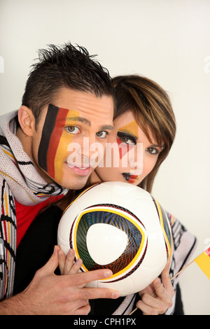 German football fans - Stock Photo