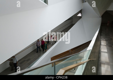 The interior of the new wing of theTel Aviv Museum of Art on May 8, 2012 in Tel Aviv, Israel. - Stock Photo