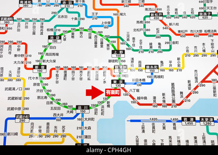 Tokyo map Stock Photo: 217201791 - Alamy on