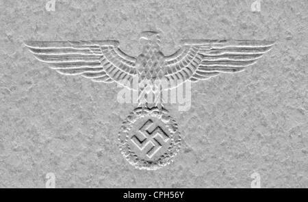 National Socialism / Nazism, emblems, Reichsadler (Eagle of the German Empire), national insignia of Nazi Germany, - Stock Photo
