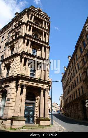 Old Warehouses in Little Germany City of Bradford West Yorkshire England - Stock Photo