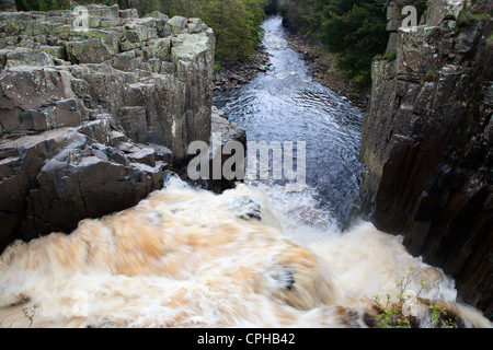 High Force in Upper Teesdale County Durham England - Stock Photo