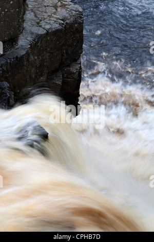High Force from Above in Upper Teesdale County Durham England - Stock Photo