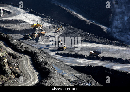 Open Cast Coal mining , South Wales - Stock Photo