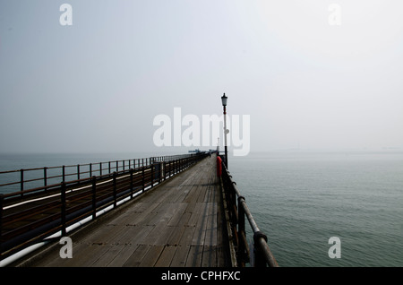 Looking Out to the Sea on The pier, Southend, Essex, England - Stock Photo